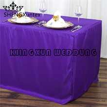 Hot Sale Fitted Polyester Table Cover Wedding Banquet Event Tablecloth Free Shipping