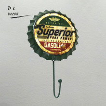 DL-SUPERIOR GAS SERVICE car vintage beer hook wall sticker for garage Clothes hook house rules wall art