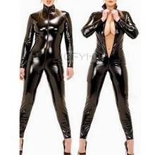 Buy Hot Sexy Lingerie Men/women Latex Catsuit Faux Leather Bondage Bodysuit Leotard Unitard Fetish Costumes Erotic Lingerie Size 4XL