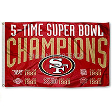 San Francisco 49ers 5Time Super Bowl Champions Sports Banner Basketball Flag 3' x 5' Custom Hockey Baseball Football Flag