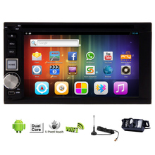 System WiFi Autoradio GPS Stereo Auto 4-CORE Android 5.1 Car DVD OBD2 Camera Head Unit FM 1080P Radio USB Digital TV