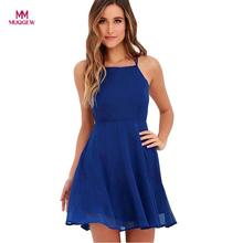 Buy MUQGEW High Women's Party Cocktail Backless Bandage Sleeveless Mini Dress sexy dress vestido de festa Drop for $8.88 in AliExpress store