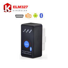 Super Mini Bluetooth ELM327 OBD2 2017 New Diagnostic Scanner With Power Switch Works on Android Symbian Windows ELM 327