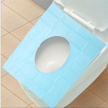 10Pcs Travel Disposable Toilet Seat Cover Mat 100% Waterproof Toilet Paper Pad Waterproof Bacteria Toilet Seat Cover(China)