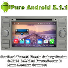 2 din android 5.1 quad core car audio dvd silver color for Ford Galaxy 2000 - 2009 Ford Kuga 2008-2011 with car gps autoradio tv