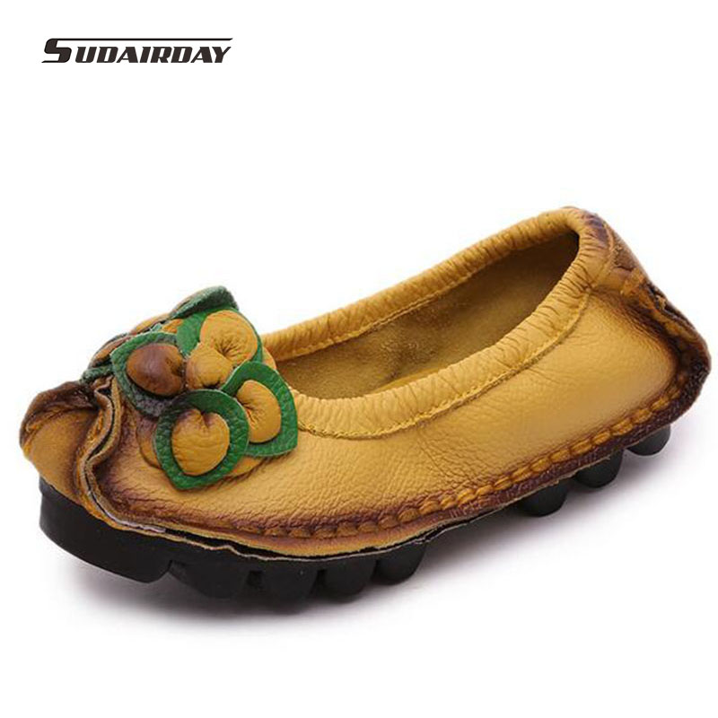 New Spring Women Flats Moccasins Casual Slip On Women Loafers handmade leather shoes women Driving Women Flats zapatos mujer<br>