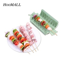 Hoomall Easy Barbecue Kebab Maker Handy Meat Brochettes Skewer Machine BBQ Grill Utensil Accessories Tools Set(China)