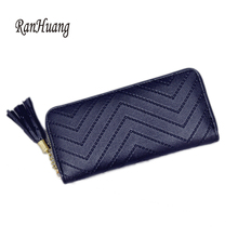 RanHuang Women Long Wallet 2017 Tassel Design Brief Wallet Women's Clutch Bags Leather Card Holer Multifunction Purses A797(China)