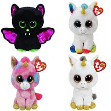 "15cm Ty Beanie Boos Collection Big Eyes 6"" Igor the Bat Pixy Fantasia Pegasus Unicorn Stuffed Doll Kids Toys Christmas Gift"