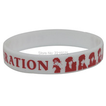 300pcs white with red logo K-POP Girls' Generation Girls Generation wristband silicone bracelets free shipping by DHL express