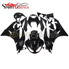 Fairings For Kawasaki ZX6R ZX-6R 636 2009 2010 2011 2012 Year 09-12 Sportbike ABS Motorcycle Fairing Kit Bodywork Cowling Black(China)