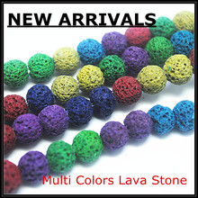 wholesale nice lava stone loose stone spacer beads charms beads accessories loose semi precious gem stone diy fashion beads(China)