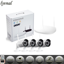 New Listing 4ch 720p wifi ip camera system  wifi kit  wireless NVR kit 2TB HDD  P2P onvif Wireless monitoring system kit