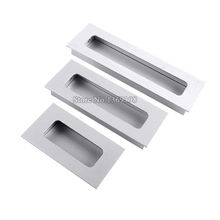 Hot 10PCS Cabinet Handles Hidden Recessed Pulls Cupboard Wardrobe Drawer Concealed Handle Sliding Door Handles and Knobs