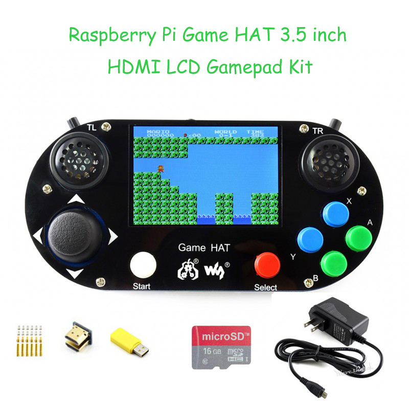 Raspberry Pi 3B+ Game LCD 3.5inch HDMI LCD Gamepad on board for Raspberry Pi zero w+Micro SD Card+Power Adapter
