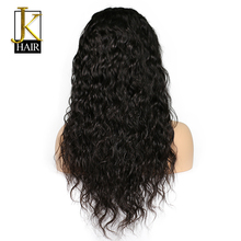 JK Glueless Lace Front Human Hair Wigs For Black Women Water Wave Brazilian Remy Hair Wig Pre Plucked With Natural Baby Hair