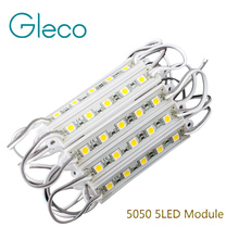 20PCS 5050 SMD 5LEDs LED Module White/Warm White/Red/Green/Blue Waterproof Light Advertising lamp DC 12V Wholesale