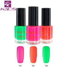 KADS New 9.5ml Two in one Fluorescent Nail Stamping Polish Sweet Color Paint Glow In the Dark Nail Polish For Nail Art(China)