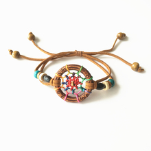 Dream Catcher Bracelet Whosale Mixed Colors Handmade Native American Style Bracelet DHL Free Shipping(China)