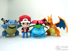 NEW hot 10cm 4pcs/set Pikachu Ash Ketchum Charmander action figure toys collection christmas toy doll with box
