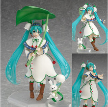 Hatsune Miku Figma 024 Snow Miku Snow Bell ver. PVC Action Figure Collectible Model Toy, Anime model Birthday(China)