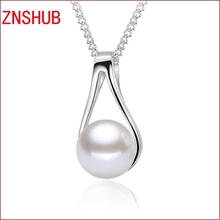 New fashion women exquisite 925 sterling silver necklace pendant zircon crystal pendant retro jewelry wholesale