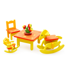 Chanycore Baby Learning Educational Wooden Toys Blocks Assemblage Play House Kindergarten Chair Table mwz Kids Gifts 4205