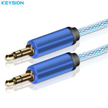KEYSION AUX Cable Car for iPhone 3.5mm Male to Male Stereo Flat Audio Cable 3.5 jack to jack Headphone Beats Speaker AUX Cable