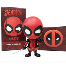 Mini Q Deadpool Car styling tools Hot toys 2016 New  X-men figurine Wade Wilson Performing props Doll ornaments  party decor