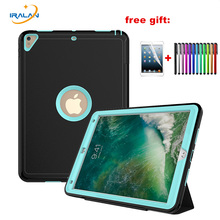 Luxury PU Leather Smart Cover For iPad Pro 10.5 Heavy Duty Protective Auto Wake Case For Apple iPad Pro 10. 5 inch 2017+film+pen(China)
