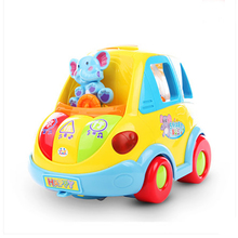 Education Toys Electric Car Huile896 Innovative Learning Toy Car Toys Children Free Delivery Children's Toys Electric Smart Bus(China)