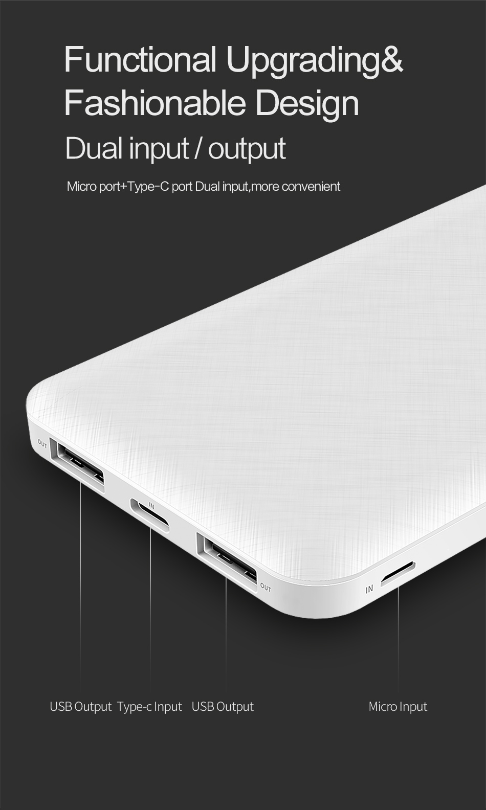 ROCK Slim 10000 mAh Power Bank,Portable Ultra-thin Polymer Powerbank battery power-bank 10000mah With LED Light for Mobile Phone 12