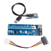 Mini PCI-E Express 1x To16x USB 3.0 Extender Riser Card Adapter SATA Power Cable #K400Y# DropShip(China)
