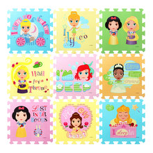 DISNEY 31.5cm Winnie Princess Toys EVA Floor Puzzles Baby Play Mats for Children Toddler Crawling Educational 1cm Thick 9pcs(China)
