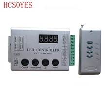 DC12V 4 Keys rgb led pixel controller HC008 programmable control 2048 pixel,133 effect modes,ws2811controller(China)