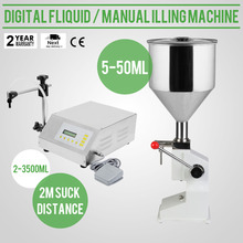 Digital Liquid Manual Filling Machine Filler 5-50ML Stainless Steel Water Wine Filling Machine(China)