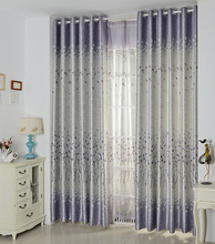 FYFUYOUFY European pastoral Double jacquard cloth art bedroom living room plant printed Shading cloth curtain/voile curtain
