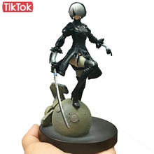 Game NieR Automata YoRHa No. 2 Type B 2B Cartoon Toy Action Figure Model Doll Gift(China)