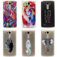 "TPU Soft Case For LG G3 5.5"" Transparent Printing Drawing Ultra-Thin Silicone TPU Phone Cover For LG G3 D855 D850 D851 D830(China)"
