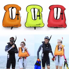 1pc Mens Snorkeling Gear Swimwear Inflatable Adult Life Jackets Vest Swimwear free shipping