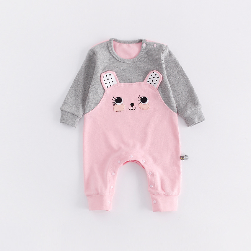 Peninsula Baby Newborn Climbing Clothing Autumn Winter Thick Jumpsuits Animal Bear Outerwear Soft Baby Rompers Girls Clothes set<br>