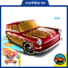 The new 2016 hot wheels little sports car hot sports car pale pinkish grey Volkswagen beetle car model alloy car toys for childr