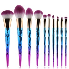 5pcs/7pcs/10pcs New Brand Makeup Brushes Set Spiral Handle Cosmetic Foundation Eyeshadow Blusher Powder Blending Brush S9