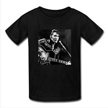 Hot Cheap Men's Elvis Presley Men's Short Sleeve Tee shirt Unicorn Print Women T Shirt Free Shipping Customized(China)