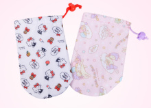 1X Kawaii NEW Hello Kitty 20CM Insulation Material Bottle Cover Bag , Lunch BAG Pouch
