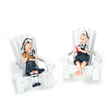 Mediterranean Style Beach Chairs Decoration Resin Male And Female Couple Lovers Dolls Beach Chairs Mediterranean Style Ornaments