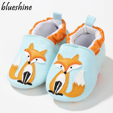 1 Pair Fashion Cotton Cloth First Walker Cartoon Baby Boy Girls Shoes Bebe Toddler Moccasins 0-24M Non-slip Soft Bottom Shoes(China)