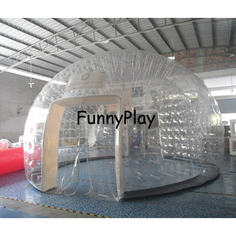 inflatable show roomoutdoor_inflatable_transparent_bubble_tent_pvc_hand_made_clear_dome_tent