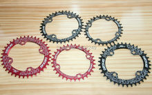 bicycle chainring 104bcd oval circle 32T 34 36 38T narrow wide single speed MTB plato ovalado de bicicleta