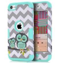 For iPod Touch 6 Owls Case Covers Anti-Knock Hybrid Hard&Silicone Phone Cases Fundas w/Screen Protector Film+Stylus Pen Gifts(China)